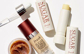 Fresh Sugar Lip Polish, Sugar Lip Serum, Sugar Lip Advanced Therapy, and Sugar Lip Wonder Drops