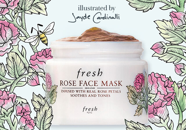 Limited-Edition Rose Face Mask designed by Jayde Cardinalli