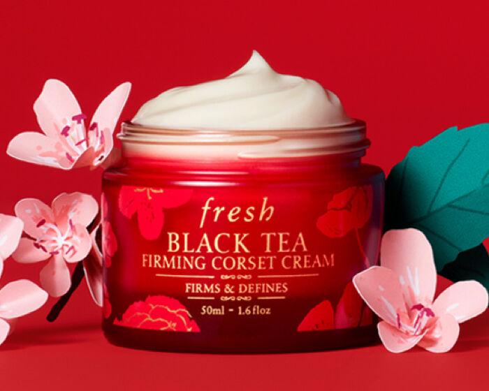 Chinese new year Black Tea Corset Cream