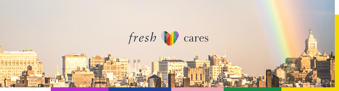 Fresh Cares text above the New York City Skincare