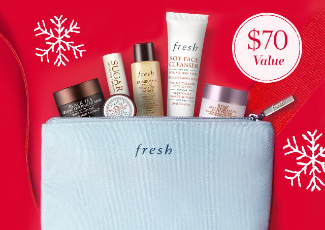 Free Gift! Get a 7-piece gift set ($70 value) with any $100+ purchase!