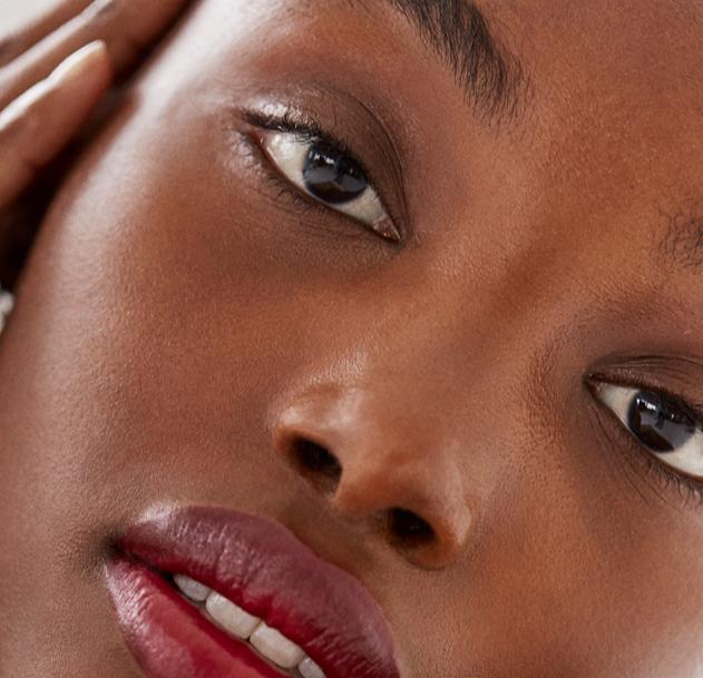 Model skin close-up