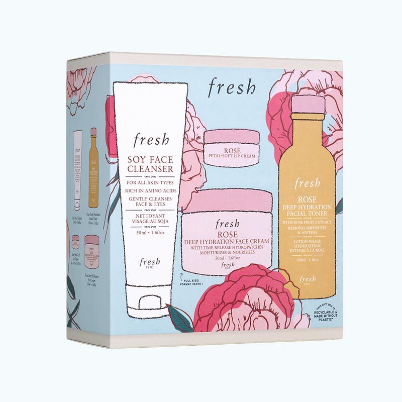 Rose Deep Hydration Skincare Gift Set