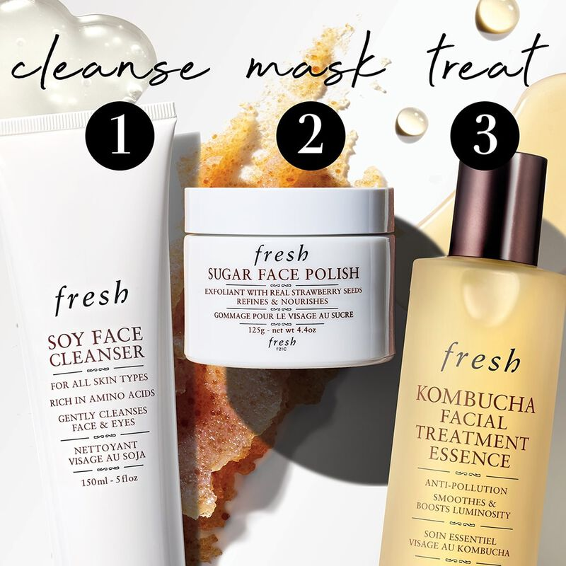 1 cleanse, 2 mask, 3 treat