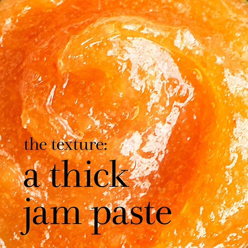 the texture: a thick jam paste