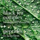 Black tea complex to improve elasticity + peptides to help firm