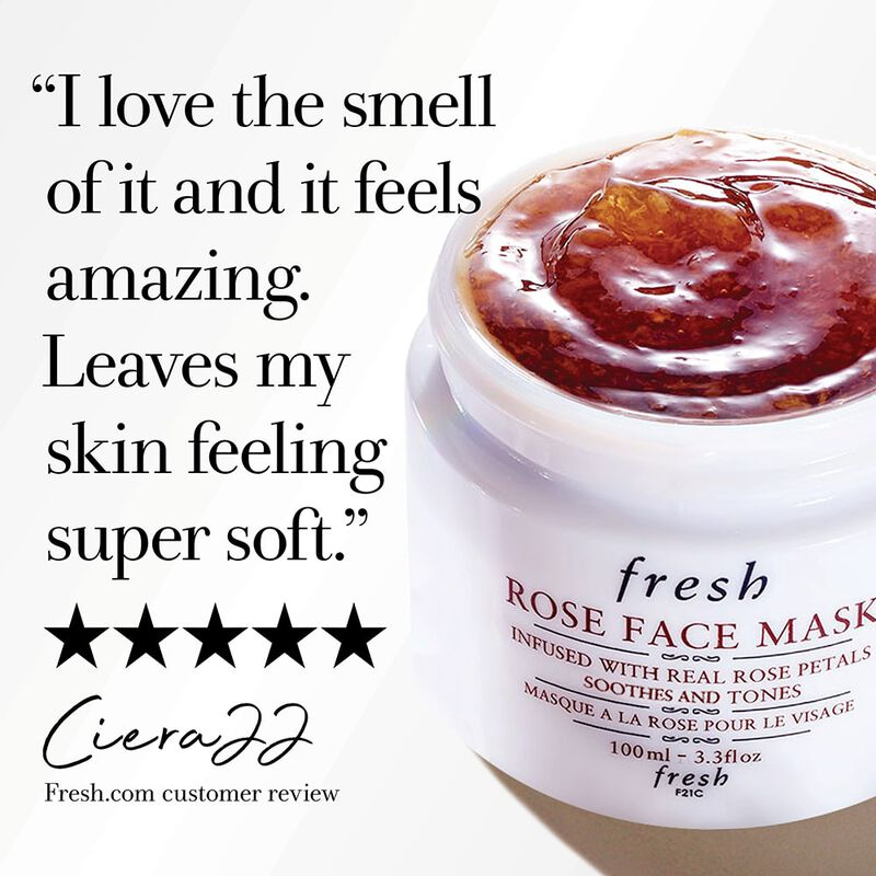 I love the smell of it and it feel amazing. Leaves my skin feeling super soft. Five stars, Ciera22, fresh.com customer review