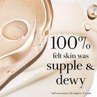 100% felt skin was supple & dewy *self-assessment, 60 subjects, 4 weeks