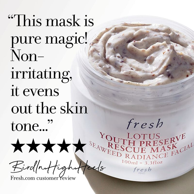 """This mask is pure magic! Nonirritating, it evens out the skin tone..."" 5 stars, BirdInHighHeels Fresh.com customer review"